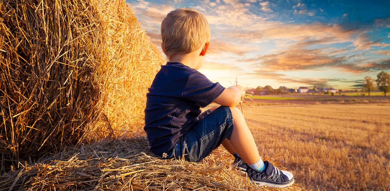 Themenbild einsames Kind